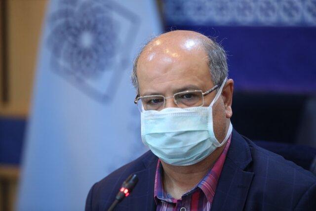 زالی: تعداد بیماری مبتلا به کرونا در تهران رو به افزایش است